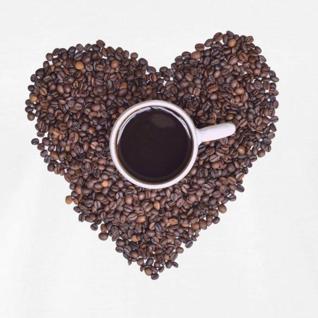 I Heart Coffee Black/White Mug