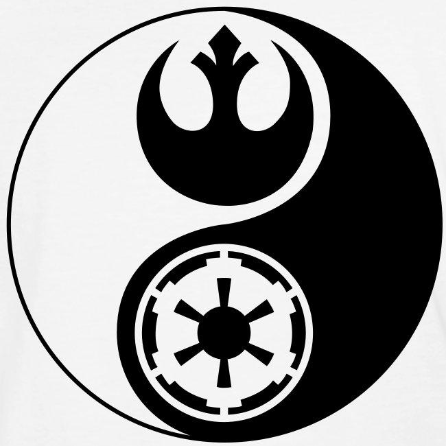 Star Wars Yin Yang 1-Color Dark