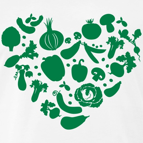 Veggie Love - Men's Premium Organic T-Shirt