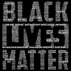 Black Lives Matter - George Floyd, Eric Garner, Michael Brown, Breonna Taylor, Freddie Gray, Trayvon Martin, ...