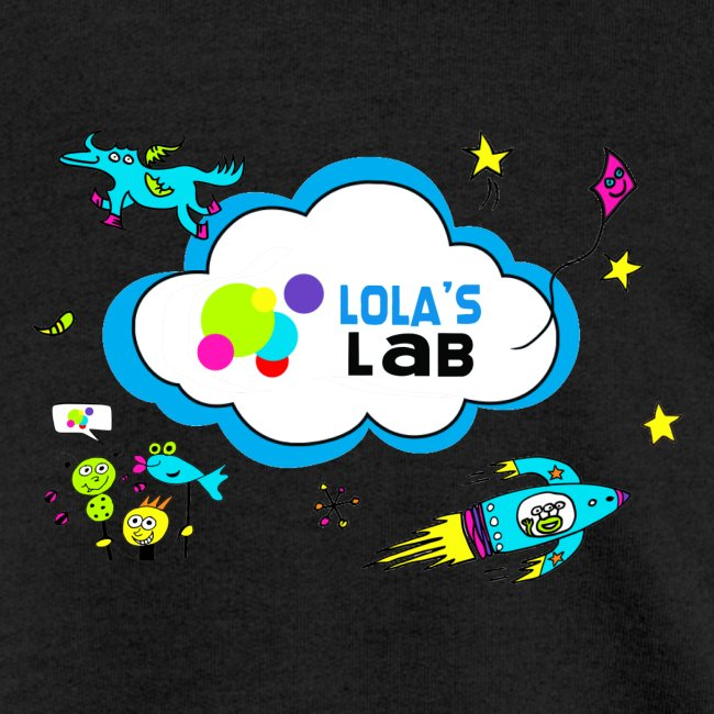 Lola's Lab illustrated logo tee