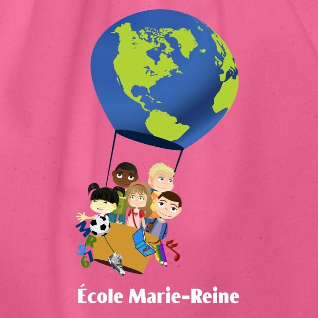 Logo École Marie-Reine texte blanc
