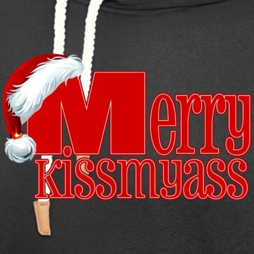 Merry Kissmyass (Merry Christmas!) - Unisex Shawl Collar Hoodie