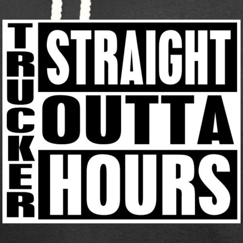 Trucker Straight Outta Hours - Unisex Shawl Collar Hoodie