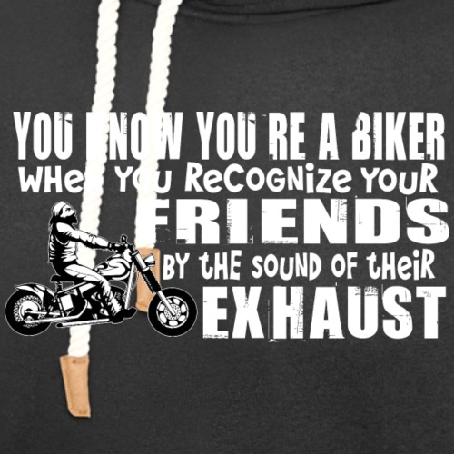 Bikers Know Friends By Exhaust - Unisex Shawl Collar Hoodie