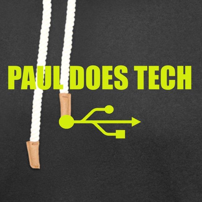 Paul Does Tech Yellow Logo With USB (MERCH)