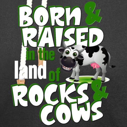 Born & Raised Rocks & Cows - Unisex Shawl Collar Hoodie
