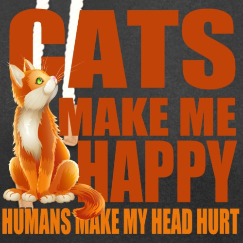 Cats Make Me Happy - Unisex Shawl Collar Hoodie