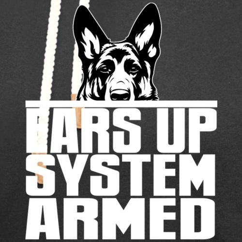 Ears Up System Armed German Shepherd - Unisex Shawl Collar Hoodie