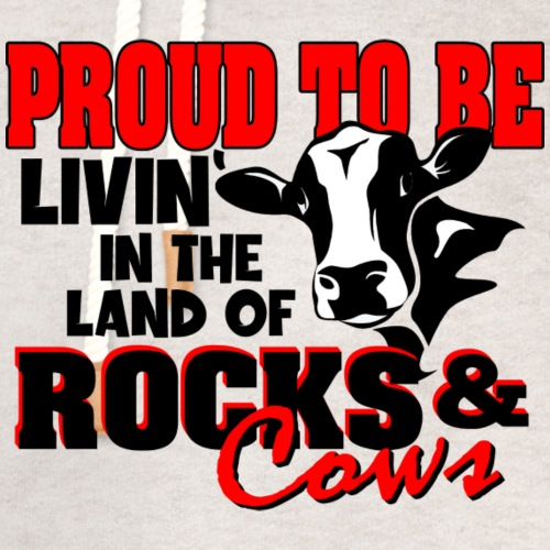 Livin' in the Land of Rocks & Cows - Unisex Shawl Collar Hoodie