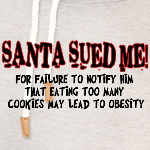 Santa Sued Me - Unisex Shawl Collar Hoodie