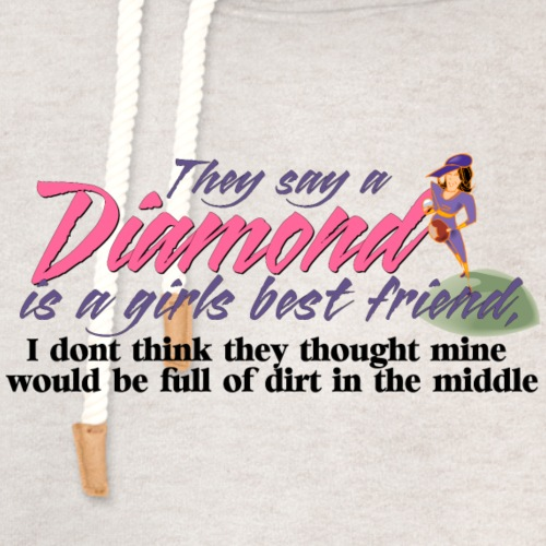 Softball Diamond is a girls Best Friend - Unisex Shawl Collar Hoodie