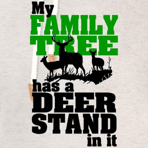 Deer Stand Family Tree - Unisex Shawl Collar Hoodie