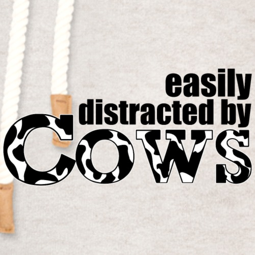 Easily Distracted by Cows - Unisex Shawl Collar Hoodie