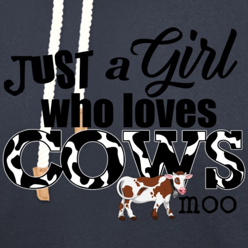 Just a Girl Who Loves Cows - Unisex Shawl Collar Hoodie