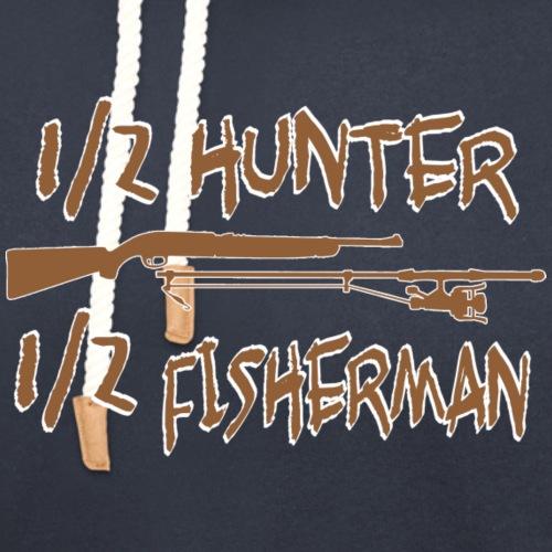 1/2 Hunter 1/2 Fisherman - Unisex Shawl Collar Hoodie