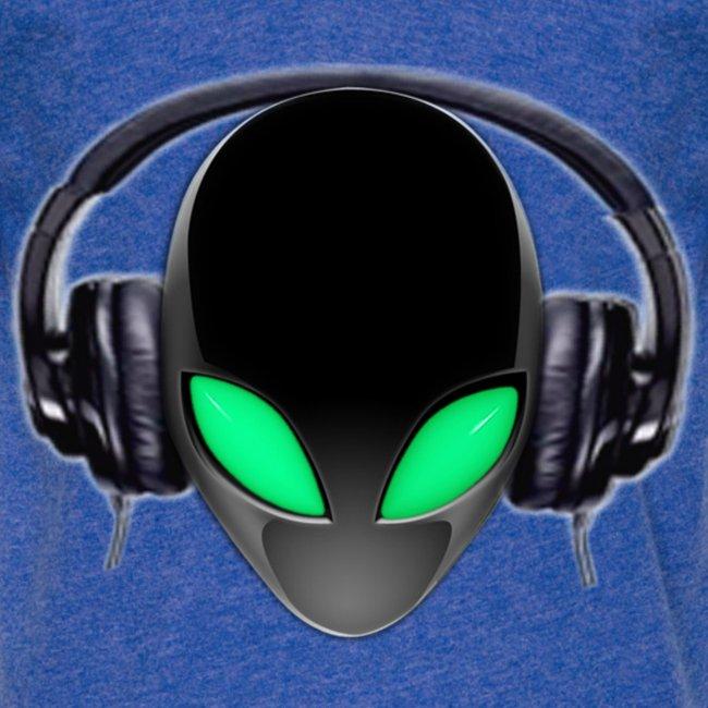Alien Music Lover DJ (Simplified Fit All Design)