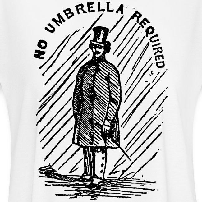 no umbrella requiered