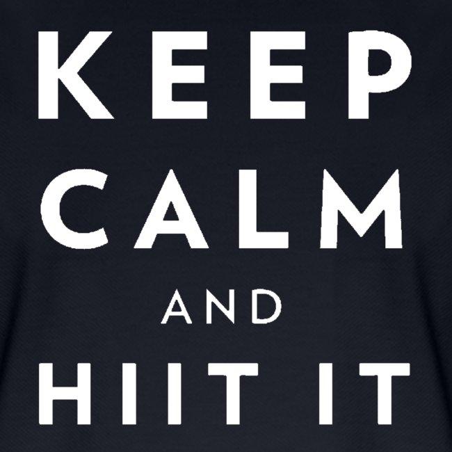 white logo, keep calm and hiit it white