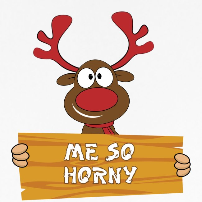 Red Christmas Horny Reindeer 3