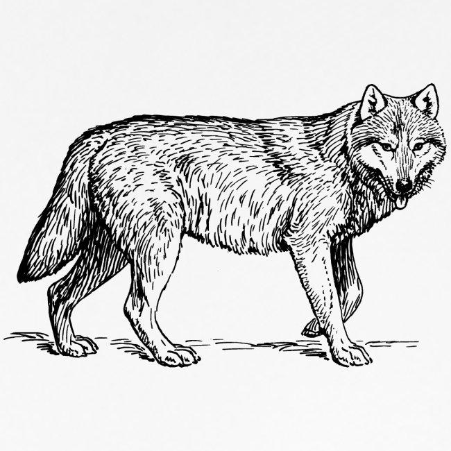 wolf T-shirt/wolf accessories/wolf apparel