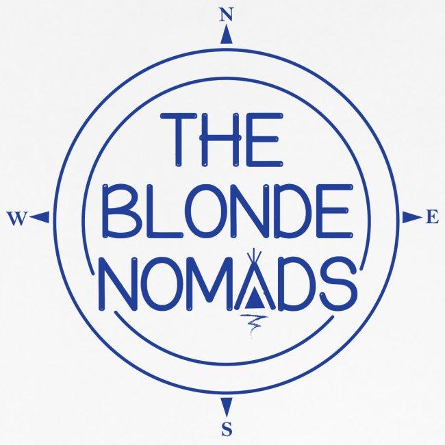 The Blonde Nomads Blue Logo
