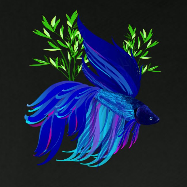 Big Blue Siamese Fighting Fish