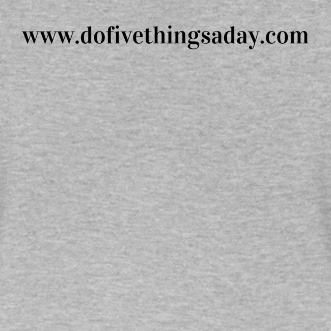 A Life Built - Do Five Things A Day