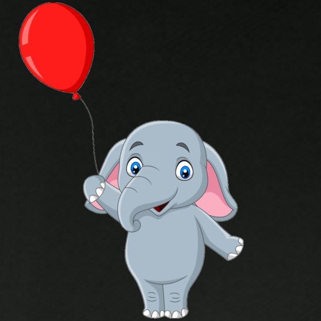 Baby Elephant Holding A Balloon