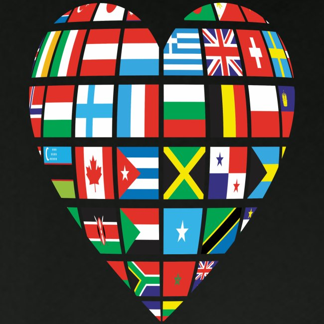 Cooperation-Countries Flags/ Global Love