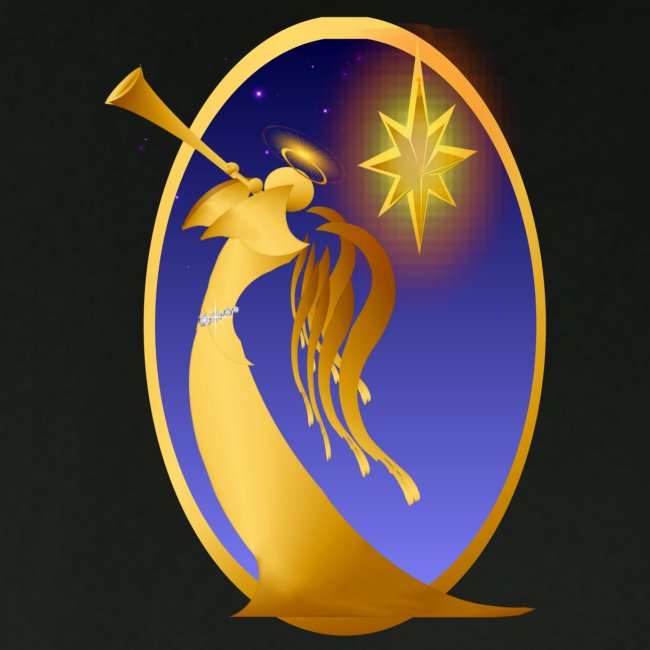 Gold Christmas Angel Oval