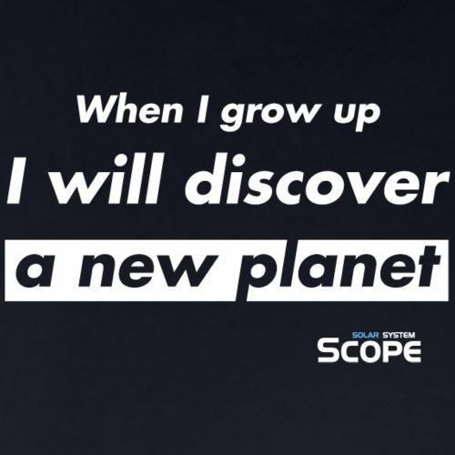 Solar System Scope : I will discover a new Planet - Men's Pique Polo Shirt
