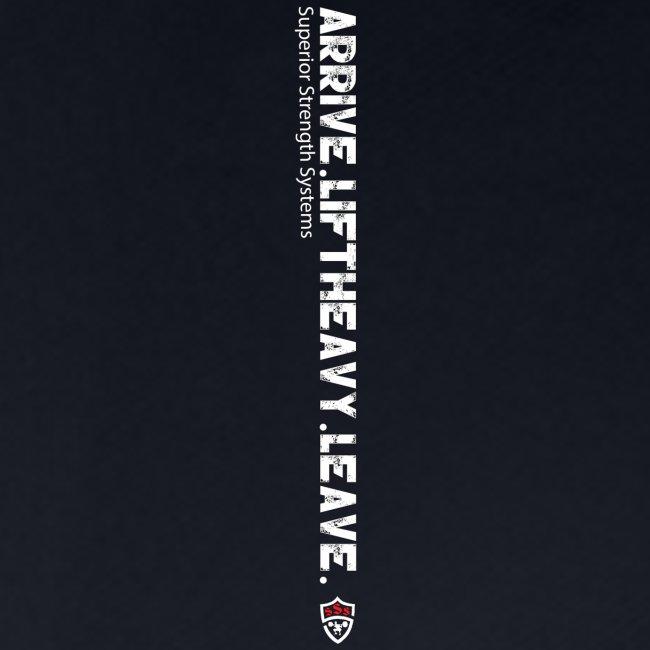 Arrive Lift Heavy Leave plus logo