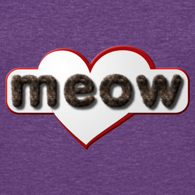 Meow - I love you in catish (cat language) - Cats