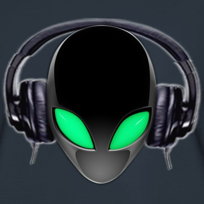 Alien Music Lover DJ (Simplified Fit All Design)