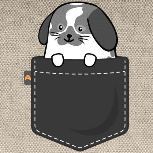 Pocket Bunny Broken Chinchilla - Carry All Pouch