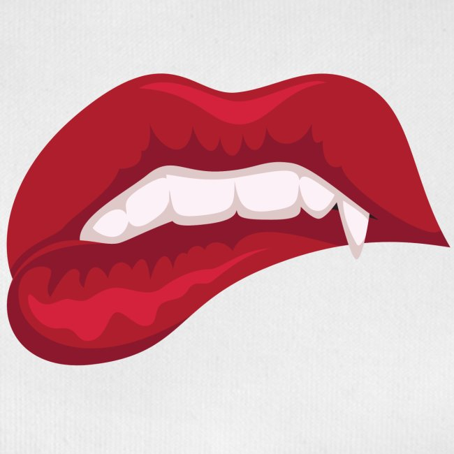 Vampire bite his lip