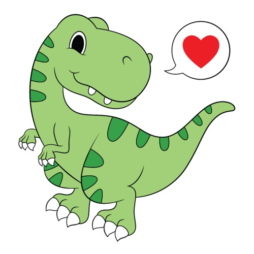 Dinosaur Love - Sticker