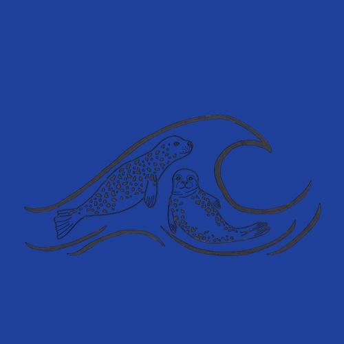 Harbor Seal Wave - Sticker
