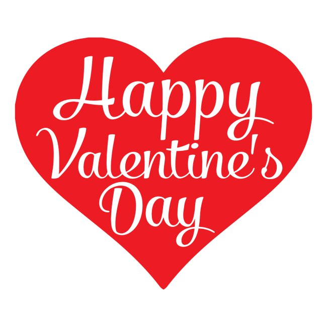 Happy Valentine s Day Heart T shirts and Cute Font