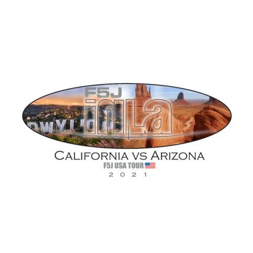 F5J in LA-Calif versus Arizona sticker - Sticker