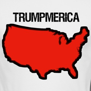 Bold Red United States with 'Trumpmerica' - Men's Long Sleeve T-Shirt by Next Level