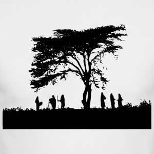 TREE AND PEOPLE SHADOW - Men's Long Sleeve T-Shirt by Next Level