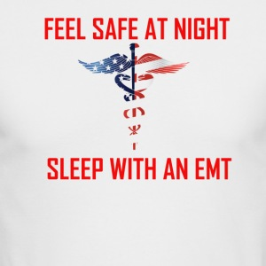Feel safe sleep with an emt - Men's Long Sleeve T-Shirt by Next Level