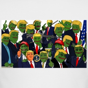 Trump Pepe Collage - Men's Long Sleeve T-Shirt by Next Level