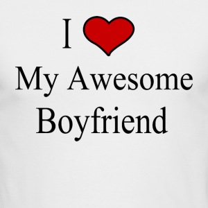 i love my awesome boyfriend - Men's Long Sleeve T-Shirt by Next Level