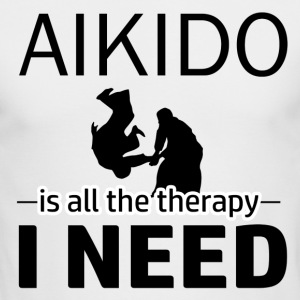 Aikido is my therapy - Men's Long Sleeve T-Shirt by Next Level