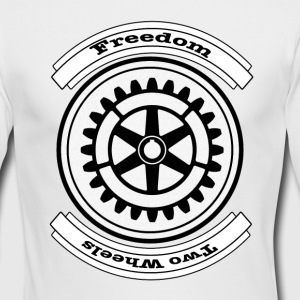 Two Wheels Freedom - Men's Long Sleeve T-Shirt by Next Level