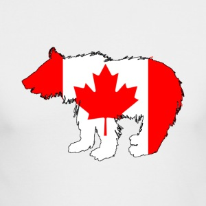 Canadian Flag - Bear Cub - Men's Long Sleeve T-Shirt by Next Level