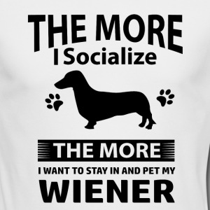 My Wiener makes me happy - Men's Long Sleeve T-Shirt by Next Level
